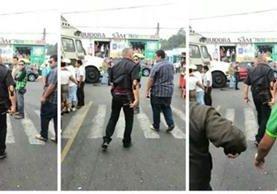 La amenaza ocurrió en Santa Catarina Pinula, en una actividad política de Líder. (Foto Prensa Libre: Redes sociales)