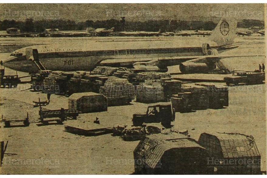 Fluye ayuda internacional, en 1976. (Foto: Hemeroteca PL)