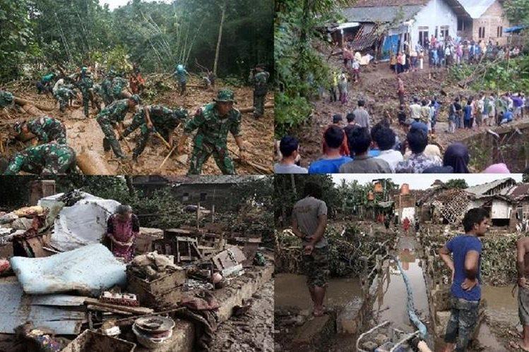 Una serie de fotos muestra los daños causados por la lluvia en Indonesia.(AFP).