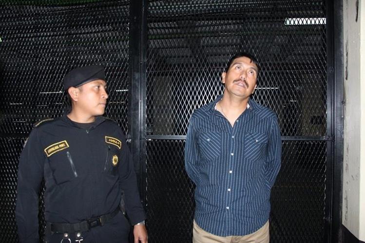 El militar Roberto Arturo Iboy Monroy fue enviado a la Torre de Tribunales. (Foto Prensa Libre: cortesía PNC)