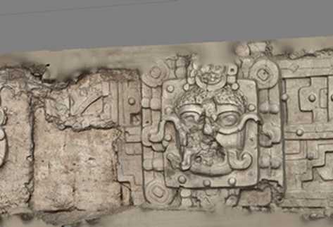 Mosaico del friso este de la estructura del Sol Nocturno (Foto Prensa Libre: Cortesía CAST)
