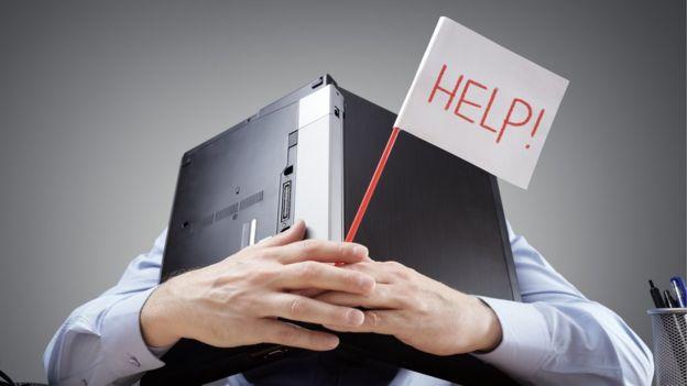 La tecnología puede saturar... pide ayuda. GETTY IMAGES