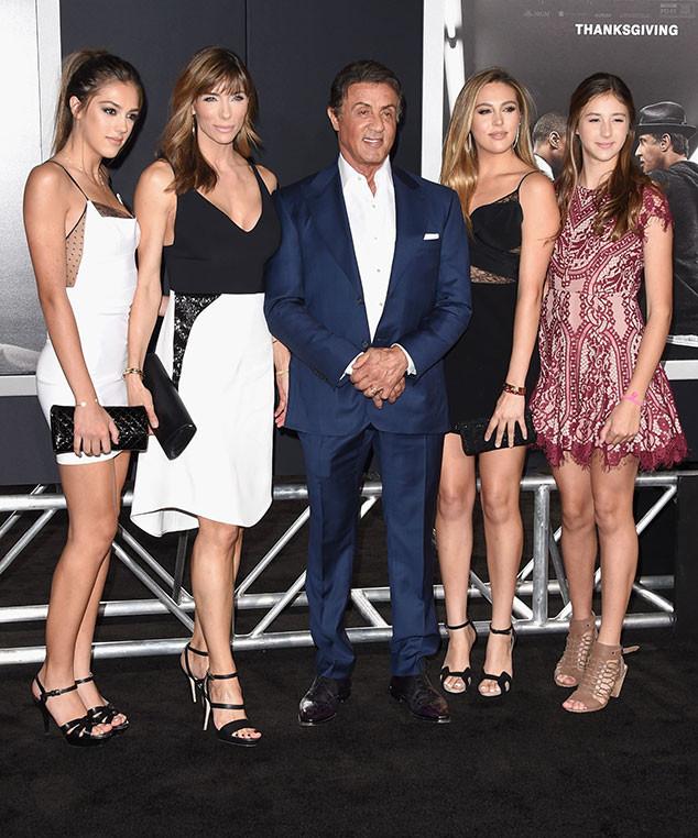 Sylvester Stallone junto a su esposa Jennifer Flavin y sus hijas. (Foto Prensa Libre: Hemeroteca PL)