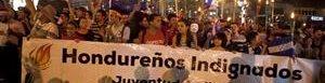 Marcha en Honduras.