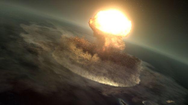 El impacto alcanzó la energía equivalente a 10.000 millones de bombas de Hiroshima. (Imagen: Barcroft Production/BBC)