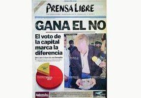 Portada del 17 de mayo de 1999 donde se informaba de la poca participación ciudadana (Foto Prensa Libre: Hemeroteca)