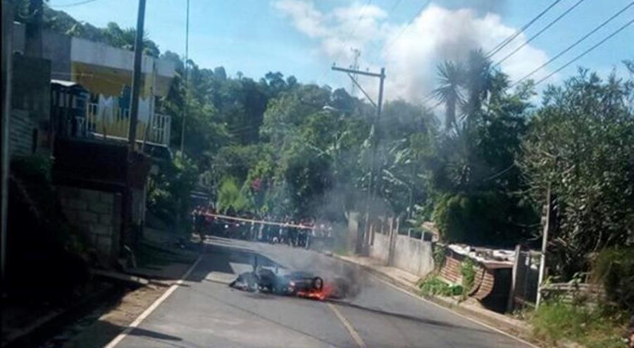 Linchamiento en aldea El Tablón. (Foto: PMT Villa Canales)