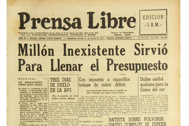 Noticia sobre el Presupuesto de 1953. (Foto: Hemeroteca PL)