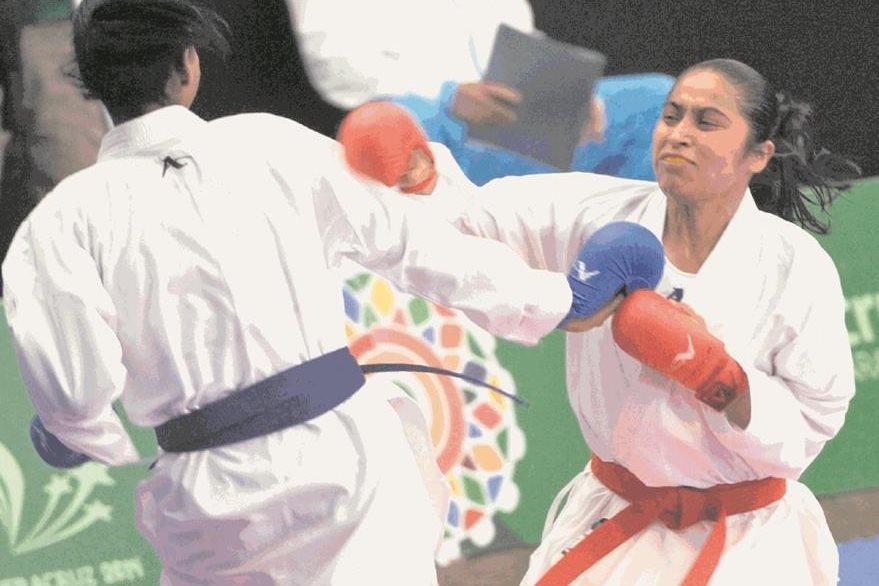 Cheili González en el combate de semifinal ante la dominicana Ana Villanueva en los Panamericanos de Río 2007. (Foto Hemoreteca PL).
