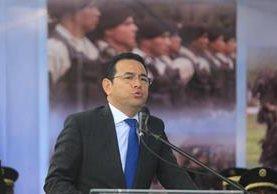 El presidente Jimmy Morales ordenó entregar informes de financiamiento al TSE. (Foto Prensa Libre: Hemeroteca PL)