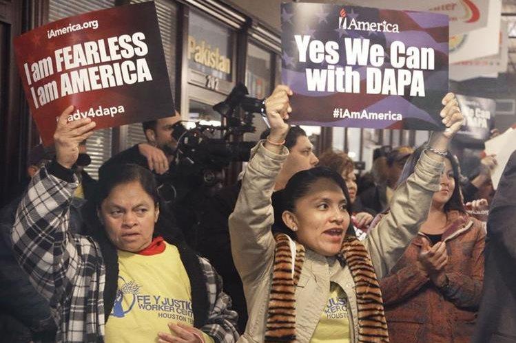 El programa DAPA fue anunciado por el gobierno de Obama en noviembre de 2014, pero nunca entró en vigor. Foto Prensa Libre: AP.