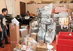 En el Almacén de Fardos Postales, ubicado en el edificio de Correos, se observó que la actividad de entrega y recepción era normal.