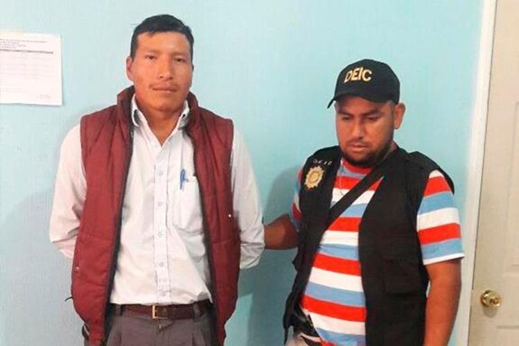 Baudilio Artemio González fue capturado en la cabecera de San Marcos. (Foto Prensa Libre: Whitmer Barrera).