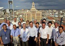 Encuentro de comunidades gallegas en el exterior, celebrado en La Habana, Cuba. (Foto Prensa Libre: EFE)