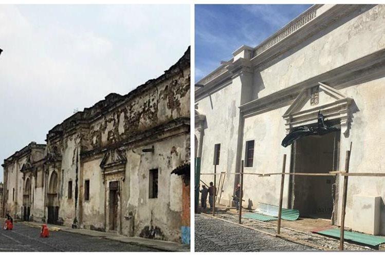 La fachada de la Catedral ha sido restaurada para preservar su valor arquitectónico y cultural para las futuras generaciones. (Foto Prensa Libre: Cortesía Cortesía Patronato de Catedral la Antigua Guatemala)