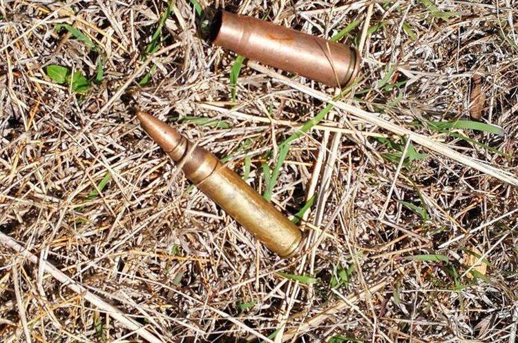 Las ojivas han quedados dispersas en las trincheras.