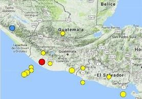 El epicentro del temblor fue en Suchitepéquez. Imagen Prensa Libre: Conred.