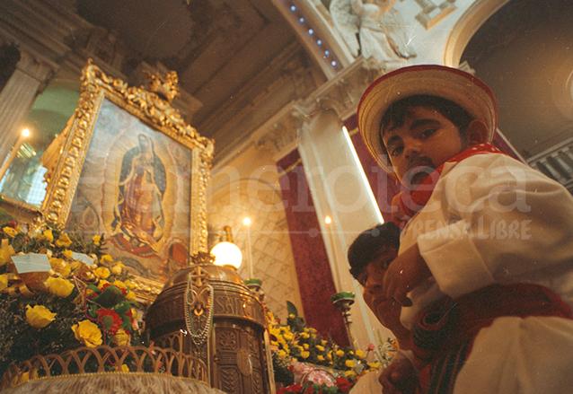 El cuadro que se venera en el Santuario de Guadalupe es uno de los más antiguos que existen en el país. (Foto: Hemeroteca PL)