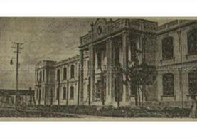 Fachada del Paraninfo Universitario, antigua Escuela de Ciencias Médicas de la Usac. (Foto: Hemeroteca PL)