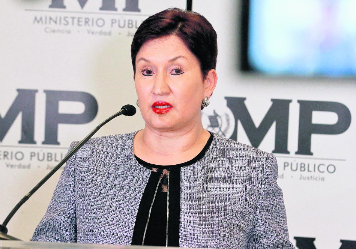 Fiscal general, Thelma Aldana. (Foto Prensa Libre: Hemeroteca PL).