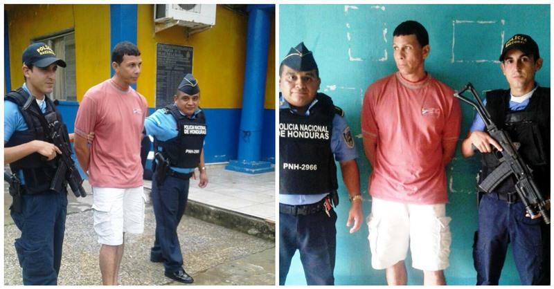 La policía de Honduras detiene a un hombre acusado de trata de personas por una menor guatemalteca. (Foto Prensa Libre: Abraham Canaca)