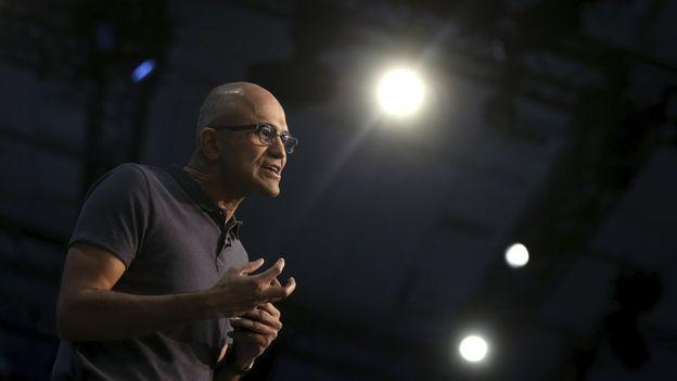El jefe de Microsoft, Satya Nadella, ha hecho de la computación en la nube y su seguridad el gran foco de la compañía. (GETTY IMAGES).