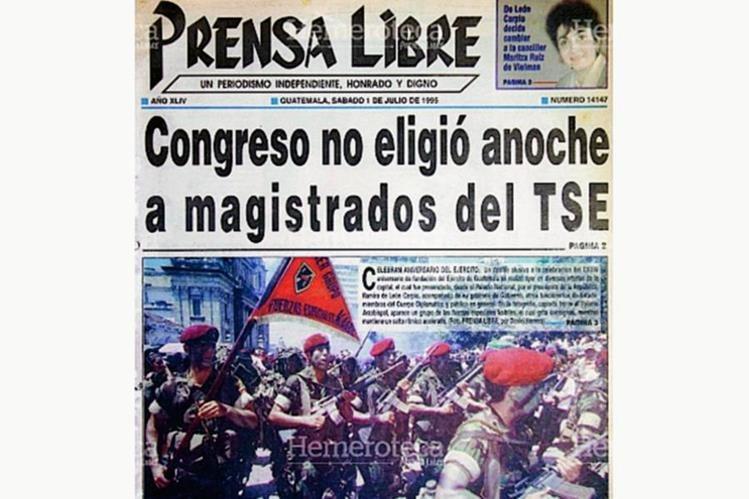 Portada de Prensa Libre del 1 de julio de 1995. (Foto: Hemeroteca PL)