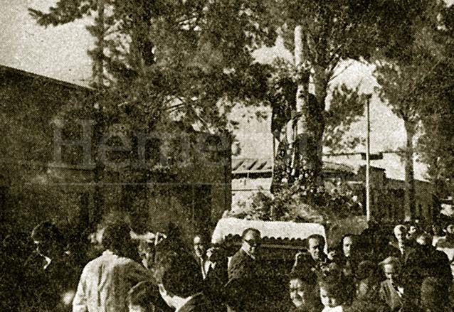 Procesión de Rogativa de Jesús de la Merced el 7 de marzo de 1976. (Foto: Hemeroteca PL)