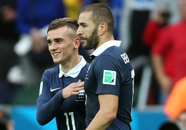 Griezmann asegura que le gustaría compartir nuevamente con Karim Benzema. (Foto Prensa Libre: Hemeroteca PL)