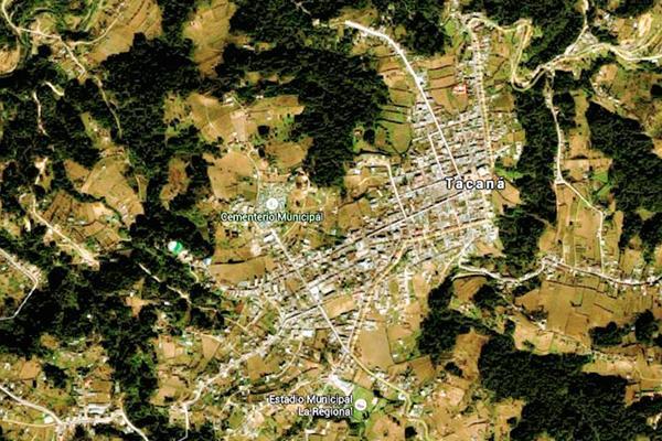 Mapa de  Tacaná, San Marcos, en donde una turba linchó a una mujer, a quien acusaban  de practicar hechicería. (Foto Prensa Libre: Google Maps)