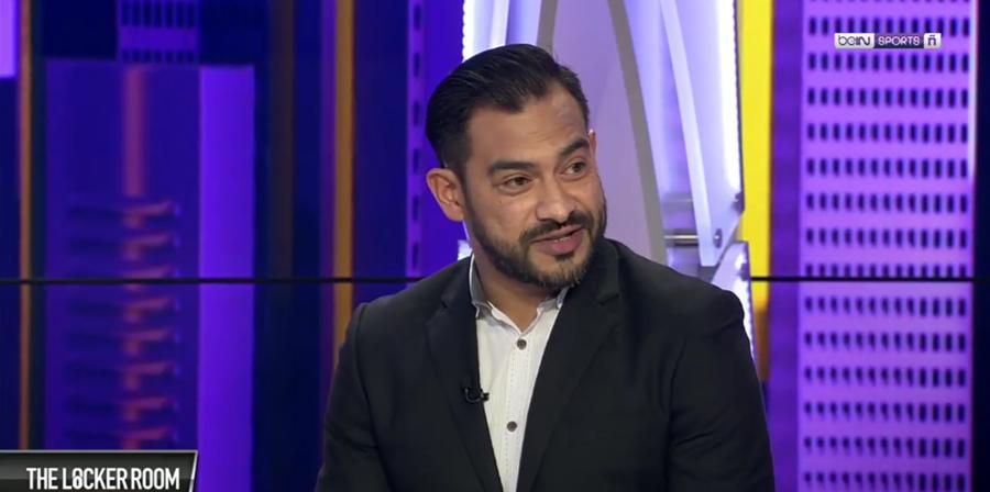 """Carlos Ruiz analizó la suspensión del futbol guatemalteco como invitado en el programa """"The LockerRoom"""". (Foto Prensa Libre: BeinSports)."""