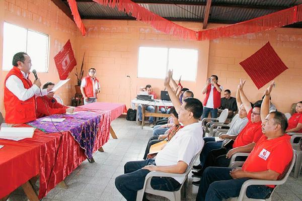 La asamblea de Líder se realizó sin ningún contratiempo. (Foto Prensa Libre: Paulo Raquec)