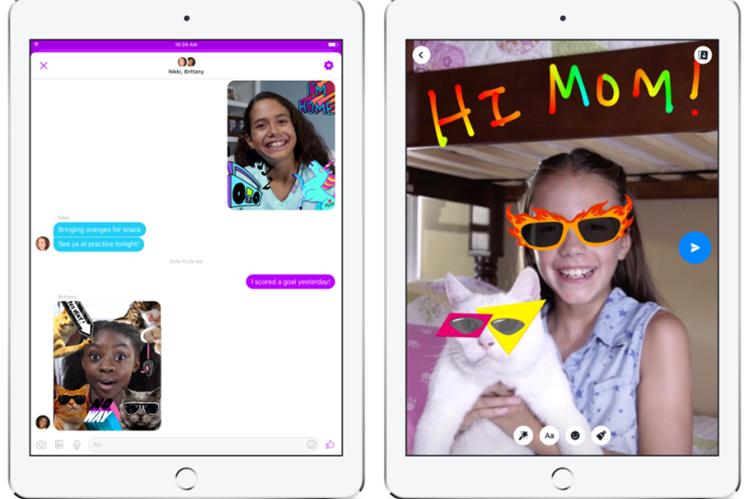 Messenger Kids pretende ser una plataforma segura para los niños y niñas en internet (Foto Prensa Libre: Facebook vía Gizmodo).