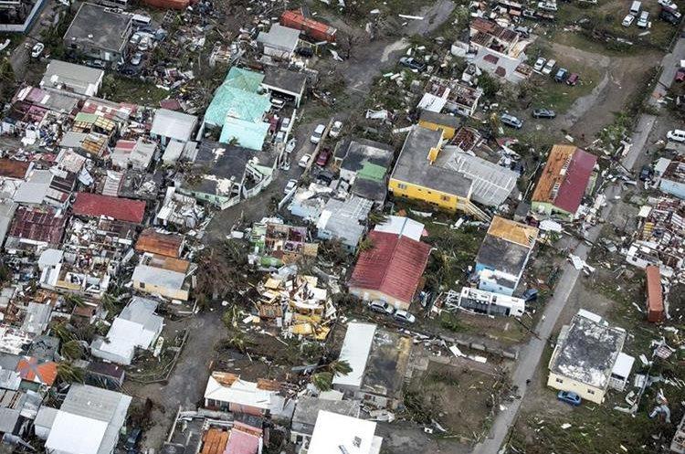 Una imagen panorámica muestra el destrozo en la Isla San Martín.