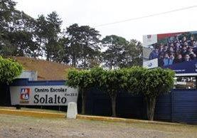 El colegio Solalto está ubicado en la carretera a El Salvador. (Foto Prensa Libre: Hemeroteca PL)