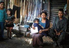Vivienda de la familia Silvestre Vargas, en la comunidad Com, Jacaltenango.