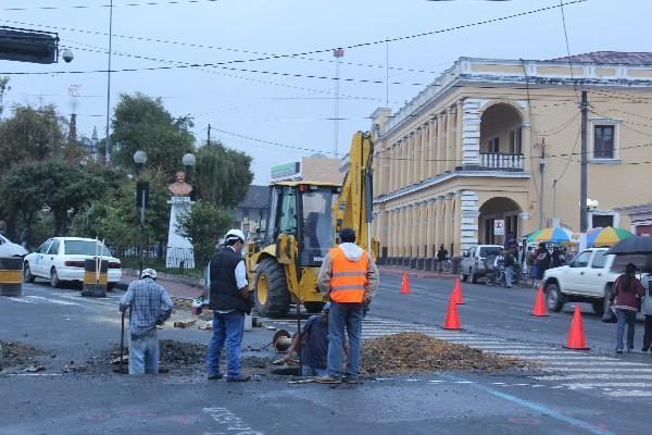 construcción causa descontento en Cobán.