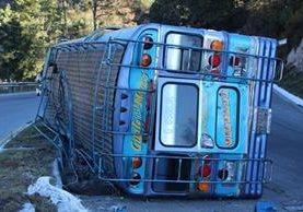 Accidente se registró en Tecpán Guatemala, Chimaltenango. (Foto Prensa Libre: José Rosales)