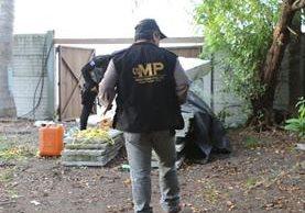 La Fiscalía de Casos Especiales da seguimiento a incautaciones de droga en el Pacífico. (Foto Prensa Libre: MP)