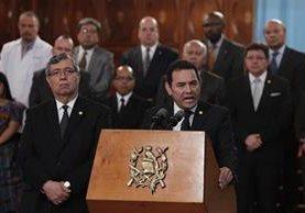 Dos diputados presentaron una solicitud de antejuicio en contra del presidente Jimmy Morales, por el caso Hogar Seguro. (Foto Prensa Libre: Hemeroteca PL)