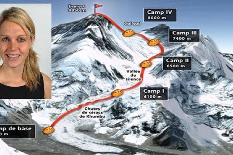 Maria Strydom, alpinista australiana falleció en el Everest después de conquistar su cima.