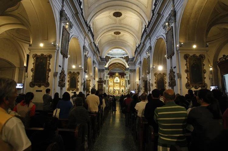 Nave central del Templo de Nuestra Señora de las Mercedes, zona 1. (Foto: Hemeroteca PL)