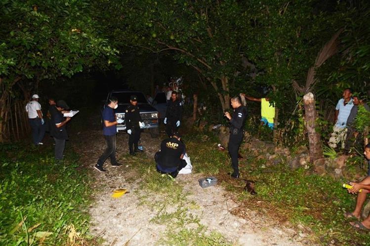 Lugar donde se registró el crimen, en Santa Rosa. (Foto Prensa Libre: Oswaldo Cardona).