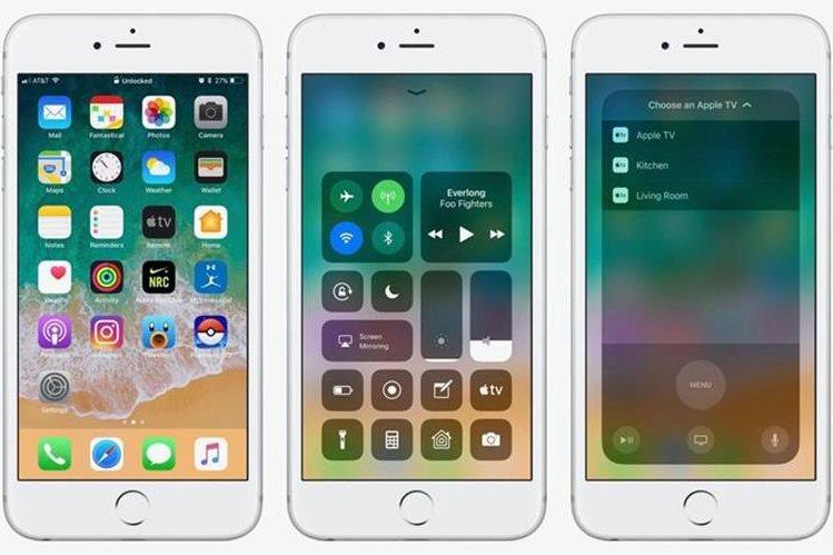 Con el iOS 11 es imposible acceder al centro de notificaciones desde el centro de la pantalla. (Foto Prensa Libre: Wayerless).