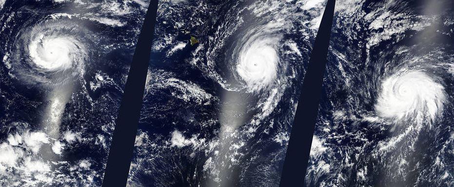 Fred, Ignacio y Jimena, han dejado lluvias en archipiélagos de Oceanía. Los huracanes afectarían EE. UU. y México en octubre. (Foto: Nasa).