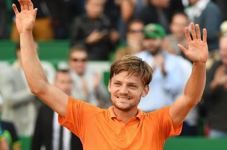 David Goffin dio la sorpresa de la jornada al eliminar al ex número uno del mundo. (Foto Prensa Libre: AFP)