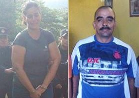 Aura Ovalle y Héctor Archila son aprehendidos por la PNC en Río Hondo, Zacapa. (Foto Prensa Libre: PNC)