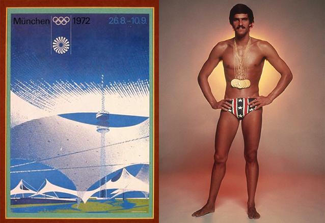 La gran figura de los Juegos Olímpicos de Munich 1972 fue el estadounidense Mark Spitz quien ganó 7 medallas de oro. (Foto: Hemeroteca PL)