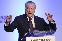 Michel Temer, presidente de Brasil, cuyos ministros son señalados por corrupción. (Prensa Libre: AFP)