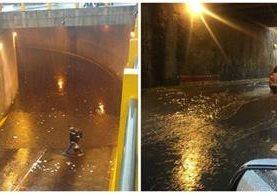 Esta semana se han registrado inundaciones en la capital y complica la circulación de vehículos. (Foto Prensa Libre: Cortesía)